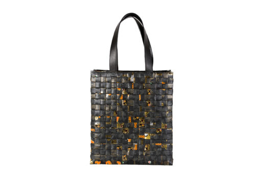 Meraky AROMA collection Arabica Totebag oro nero fronte