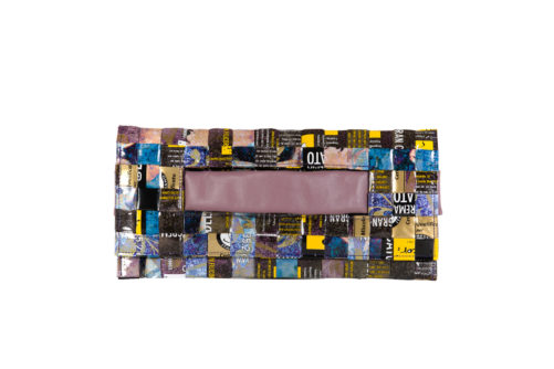 Meraky AROMA collection Ristretto clutch bag bouquet fronte
