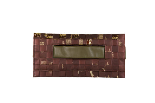 Meraky AROMA collection Ristretto clutch bag chocolate fronte