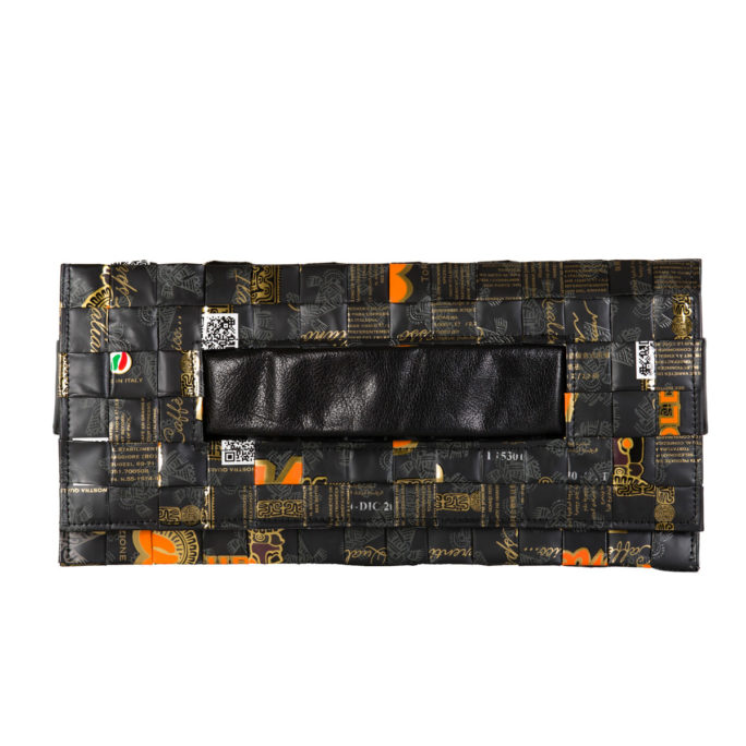 Meraky AROMA collection Ristretto clutch bag oro nero fronte