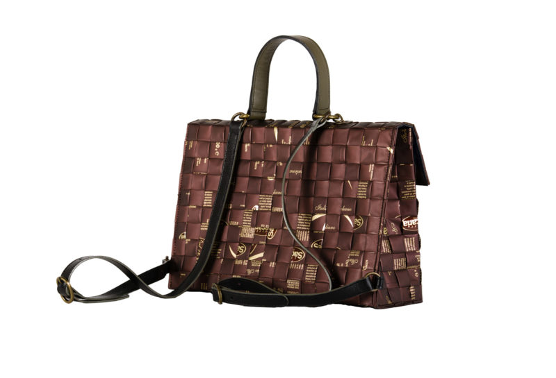 Meraky AROMA collection Shakerato convertible bag chocolate lato