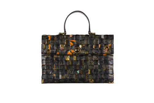 Meraky AROMA collection Shakerato convertible bag oro nero fronte