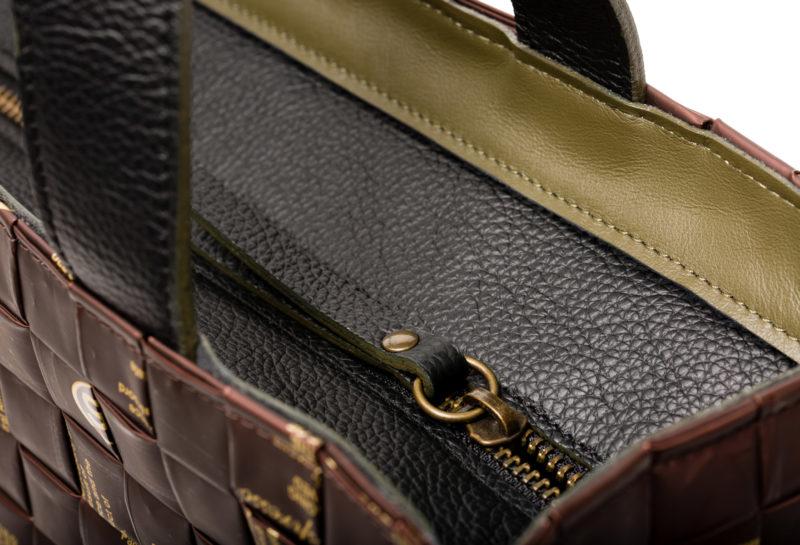 Meraky AROMA collection Arabica Tote bag chocolate detail