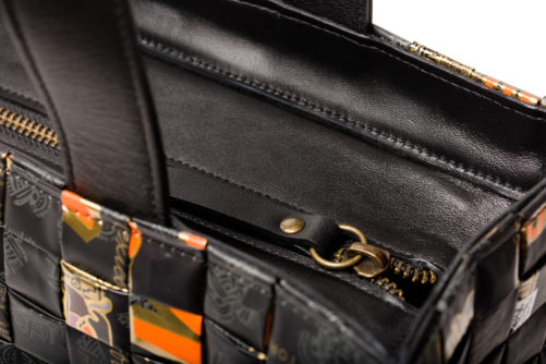 Meraky AROMA collection Arabica sac Tote bag oro nero détail