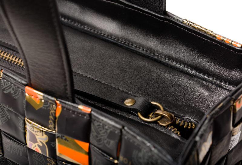 Meraky AROMA collection Arabica Tote bag oro nero detail