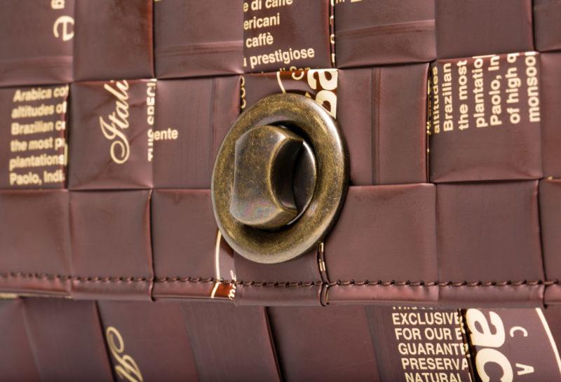 Meraky AROMA collection Espresso Chatelaine bag colour chocolate detail