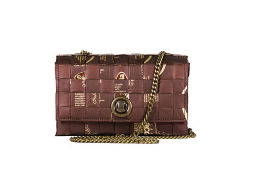 Meraky AROMA collection Espresso Chatelaine bag colour chocolate front