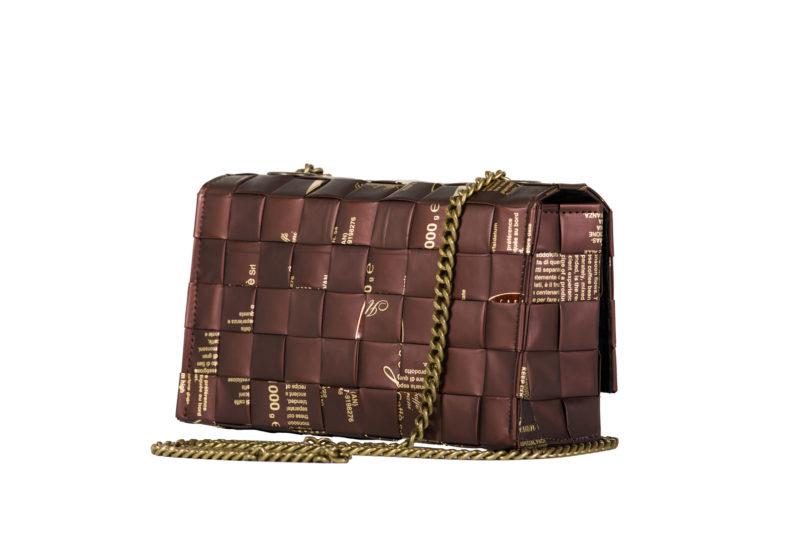 Meraky AROMA collection Espresso Chatelaine bag colour chocolate back
