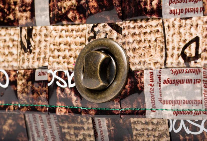 Meraky AROMA collection Espresso sac Chatelaine bag juta détail