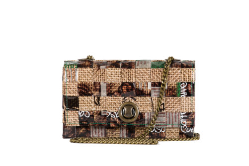 Meraky AROMA collection Espresso Chatelaine bag juta front