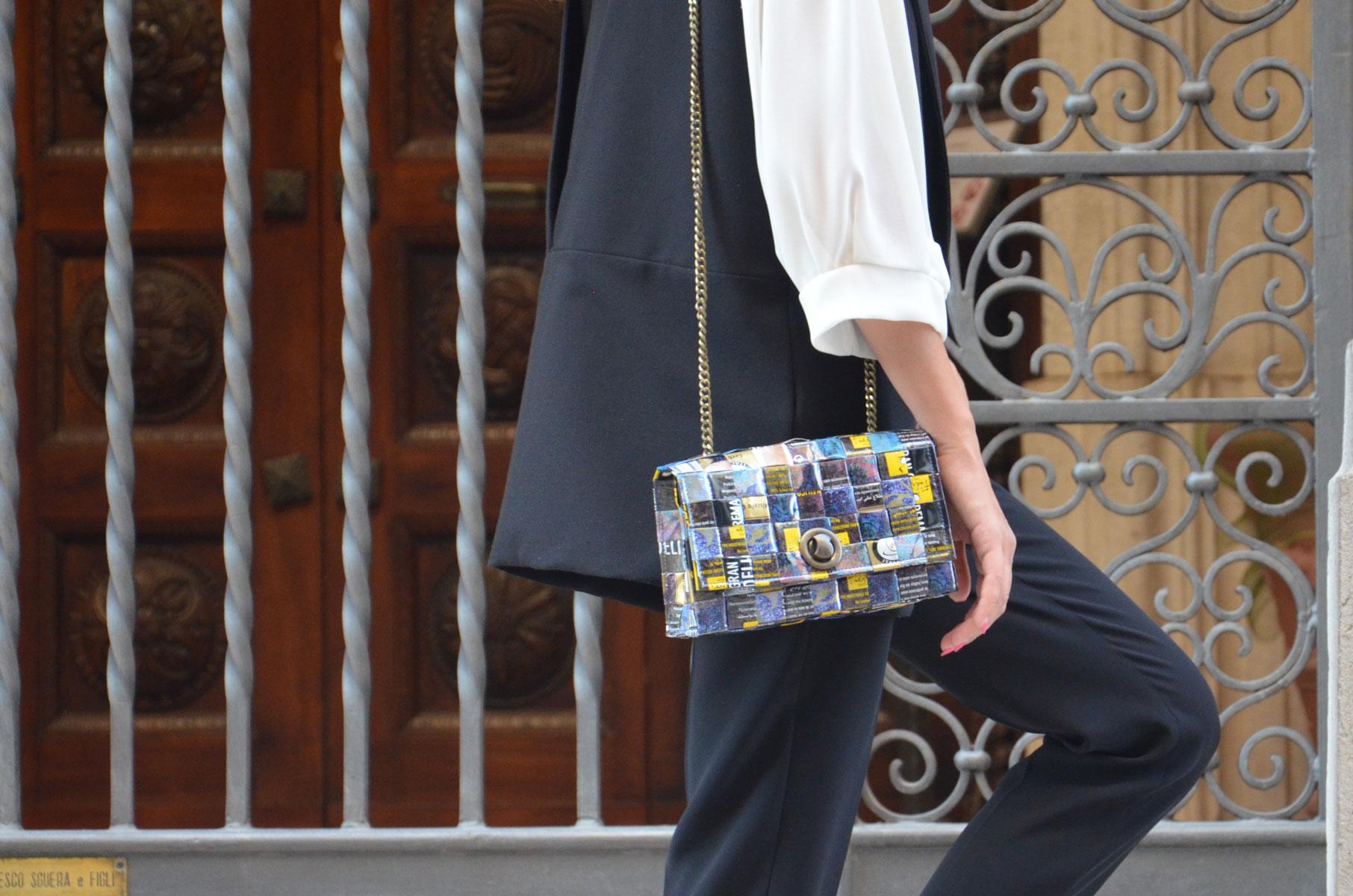 Meraky AROMA collection Espresso sac chatelaine bag bouquet