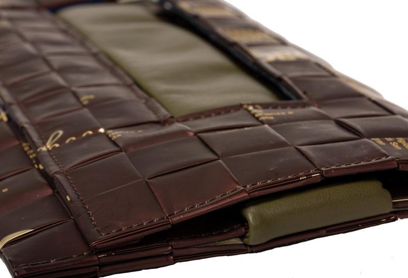 Meraky AROMA collection Ristretto sac pochette clutch bag chocolate détail