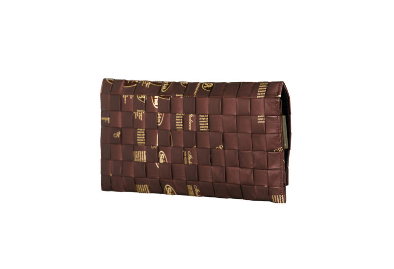 Meraky AROMA collection Ristretto clutch bag chocolate back