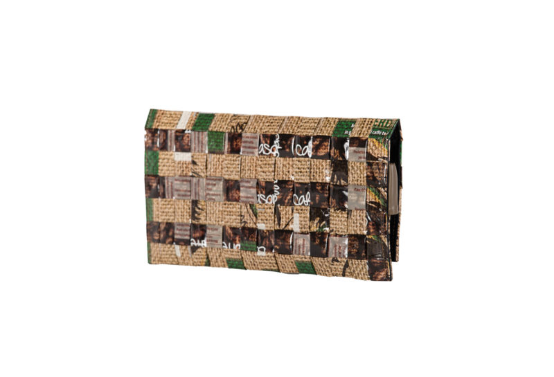 Meraky AROMA collection Ristretto clutch bag juta back