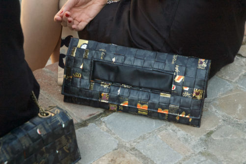 Meraky AROMA collection Ristretto sac pochette clutch bag oro nero