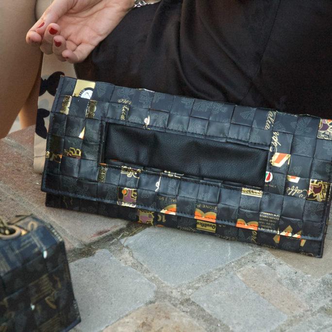 Meraky AROMA collection Ristretto sac pochette clutch bag oro nero
