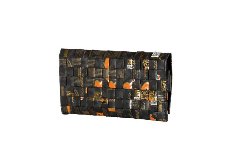 Meraky AROMA collection Ristretto pochette clutch bag oro nero arrière