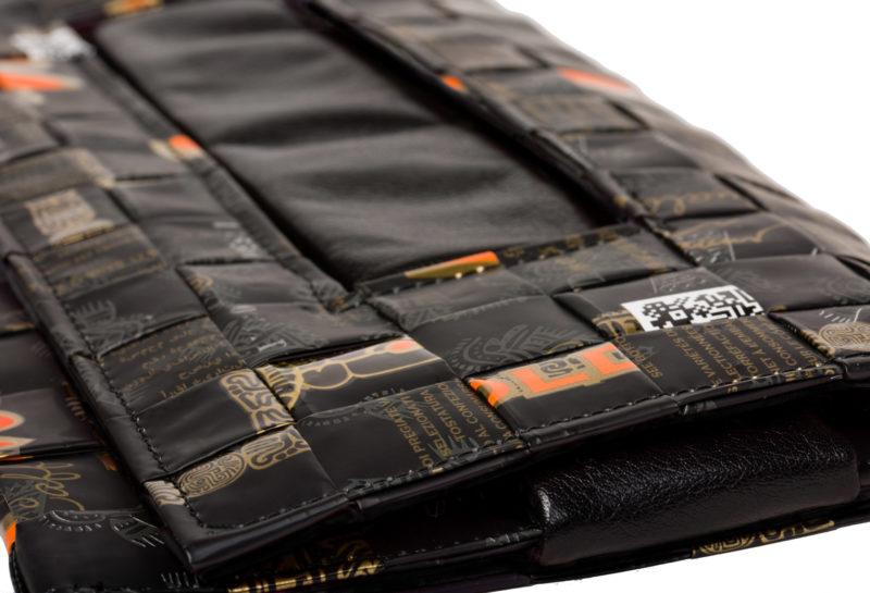 Meraky AROMA collection Ristretto pochette clutch bag oro nero détail