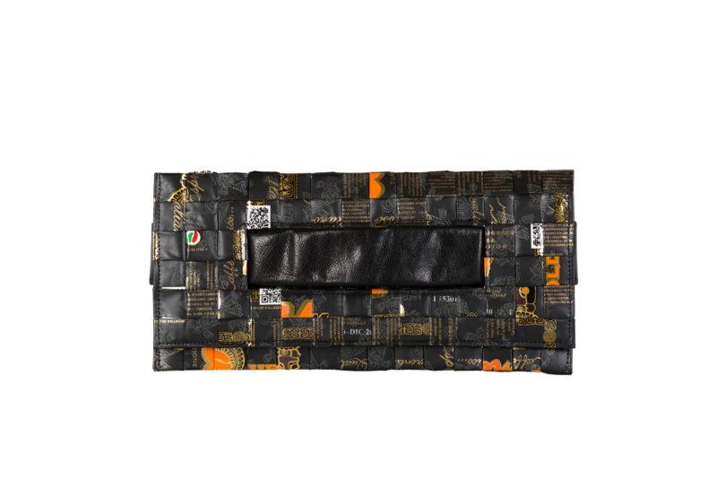 Meraky AROMA collection Ristretto pochette clutch bag oro nero devant