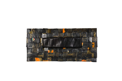 Meraky AROMA collection Ristretto clutch bag oro nero front