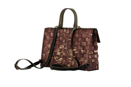 Meraky AROMA collection Shakerato sac convertible bag chocolate arrière