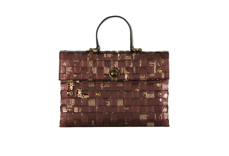 Meraky AROMA collection Shakerato sac convertible bag chocolate devant