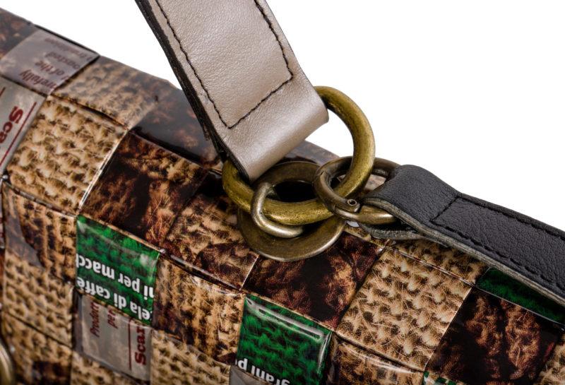 Meraky AROMA collection Shakerato sac convertible bag juta détail