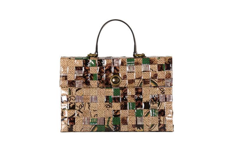 Meraky AROMA collection Shakerato sac convertible bag juta devant