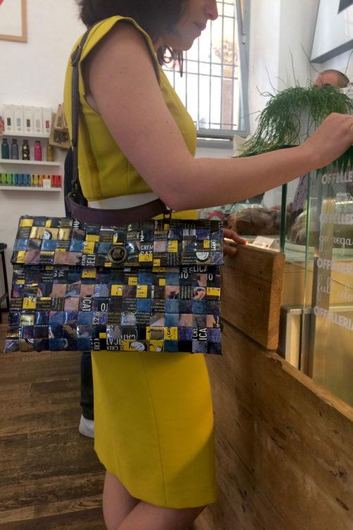 Meraky AROMA collection Shakerato sac convertible bag oro nero