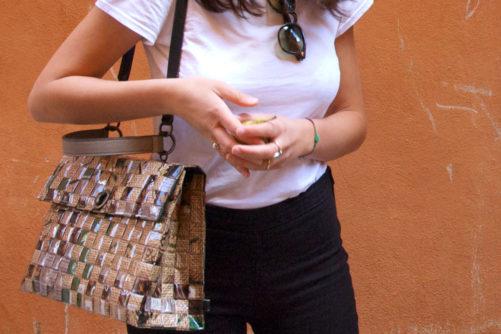 Meraky AROMA collection Shakerato sac convertible bag juta