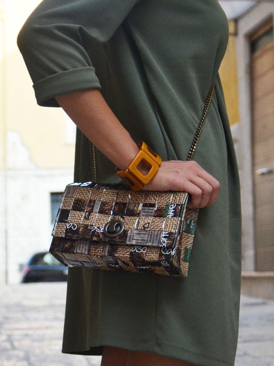 Meraky AROMA collection Espresso sac Chatelaine bag juta