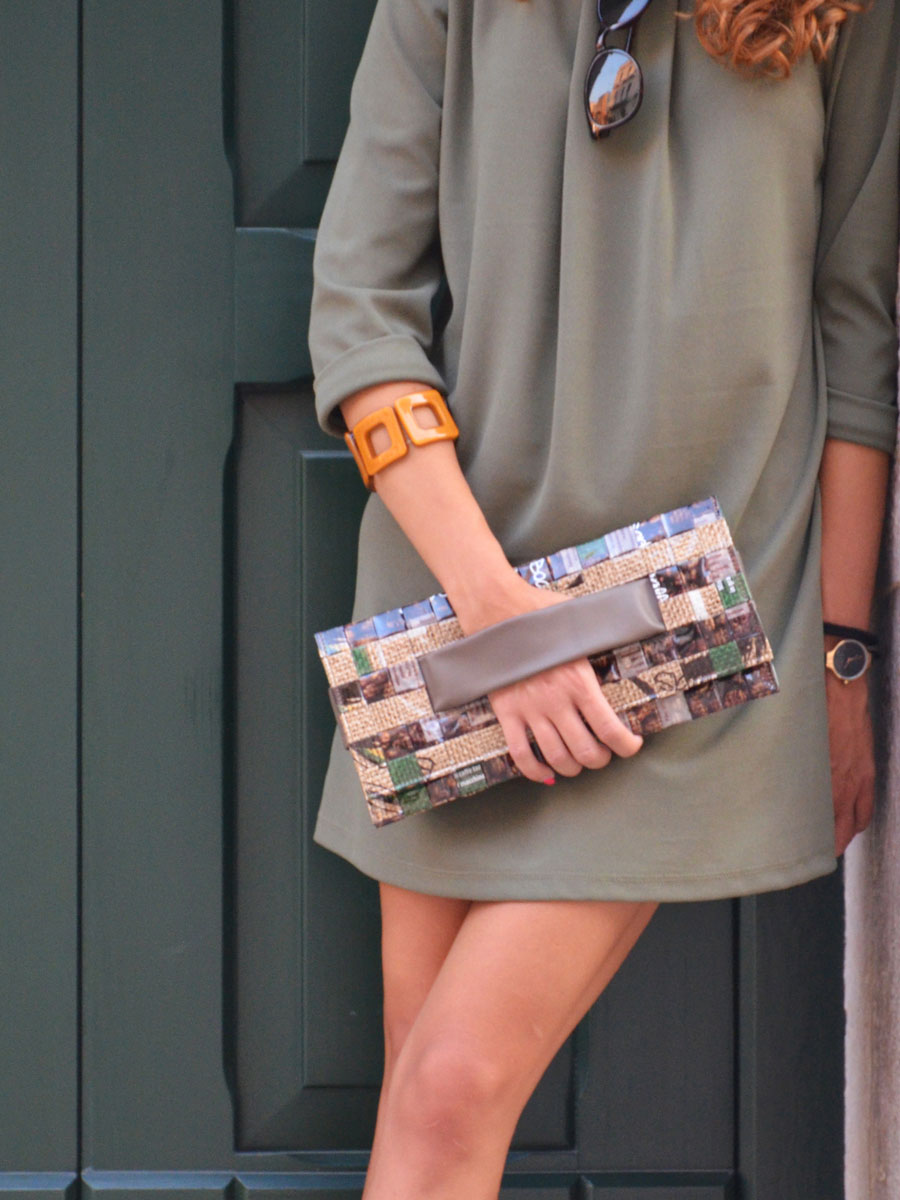 Meraky AROMA collection Ristretto sac pochette clutch bag juta